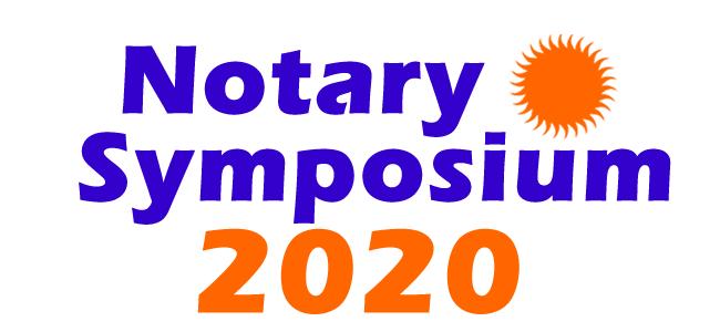 2020 Notary Symposium logo