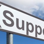 "road sign that reads ""Support"""